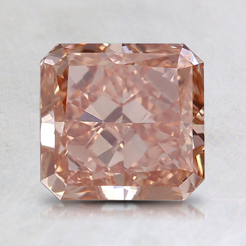 1.69 Ct. Fancy Orangy Pink Radiant Lab Created Diamond