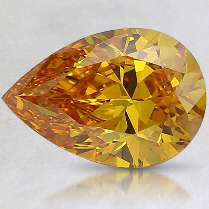 1.81 Ct. Fancy Deep Yellowish Orange Pear Lab Created Diamond
