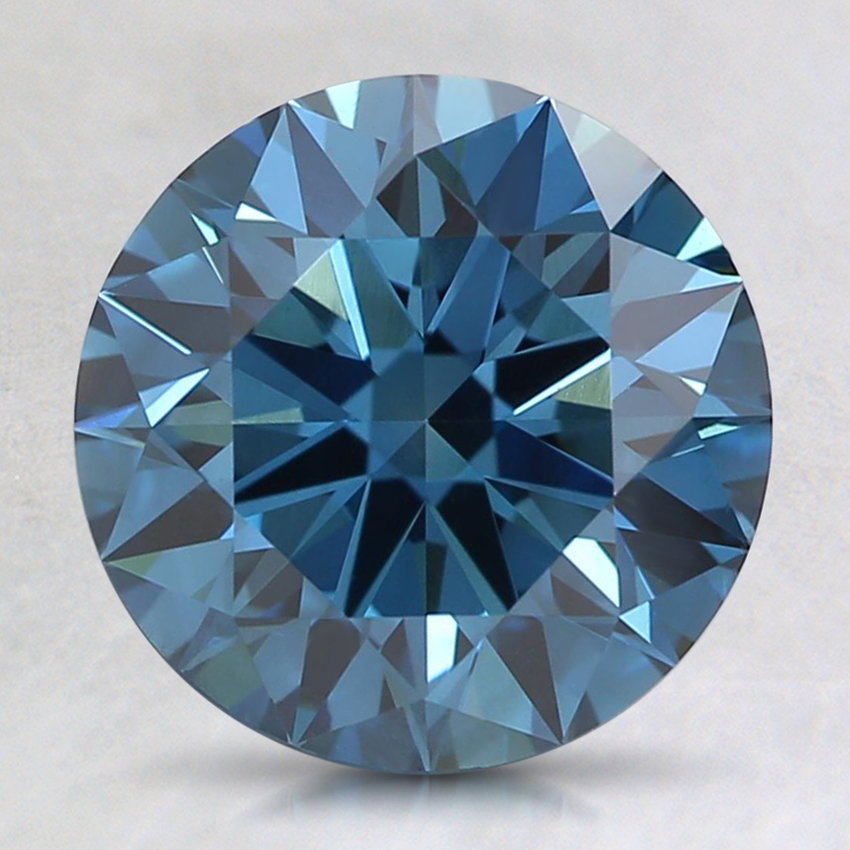 2.30 Ct. Fancy Dark Greenish Blue Round Lab Created Diamond