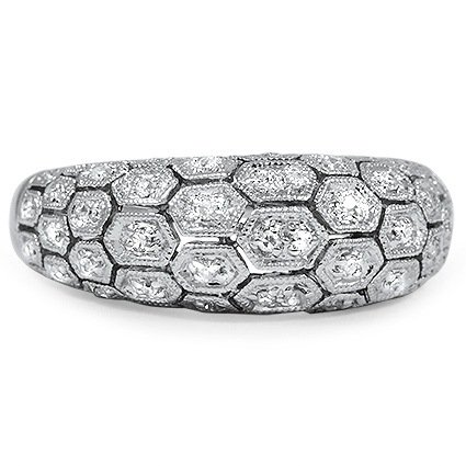 Retro Diamond Cocktail Ring