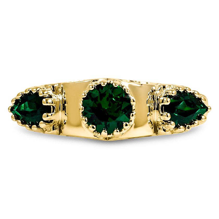 Custom Three-Stone Sapphire Ring | Brilliant Earth