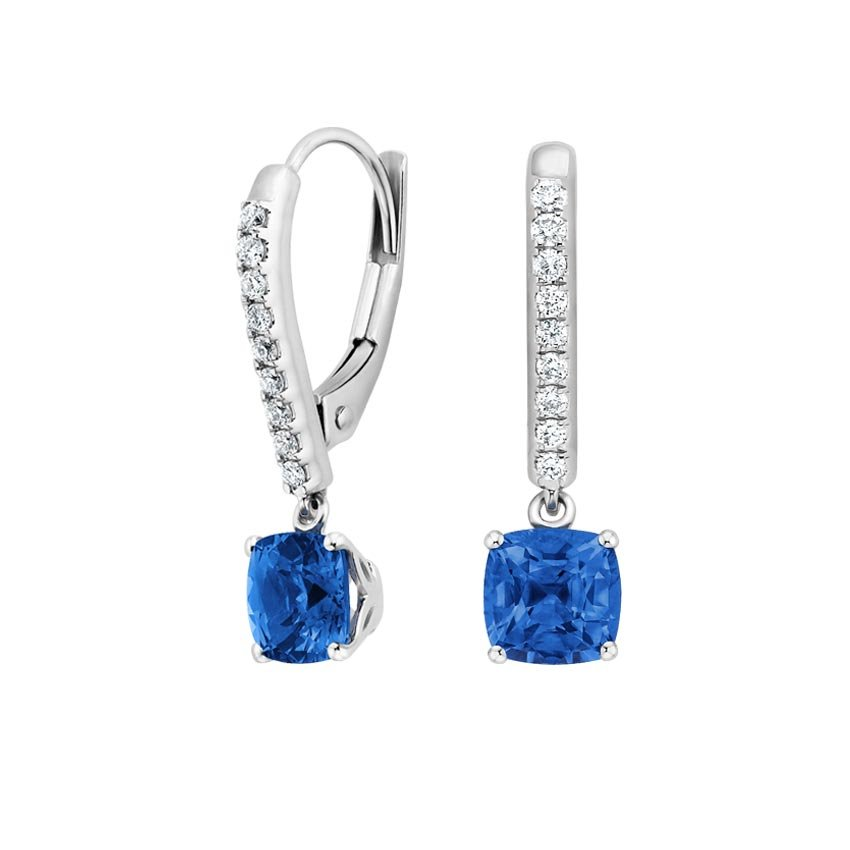 Top Twenty Anniversary Gifts - SAPPHIRE AND DIAMOND DROP EARRINGS