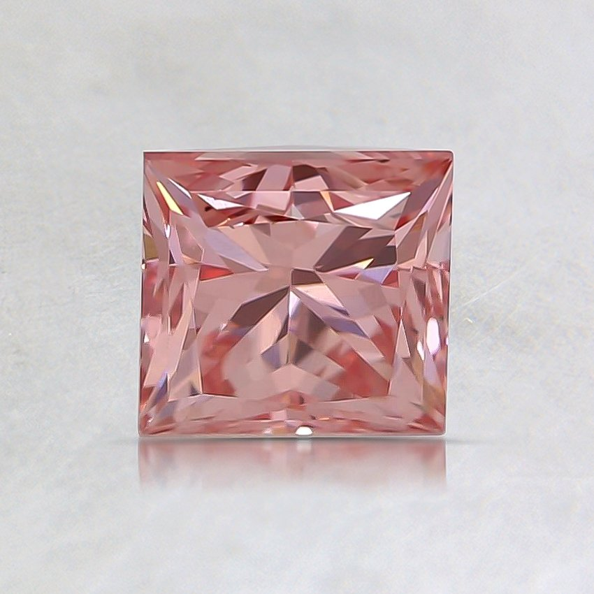 1.03 Ct. Fancy Vivid Pink Princess Lab Created Diamond