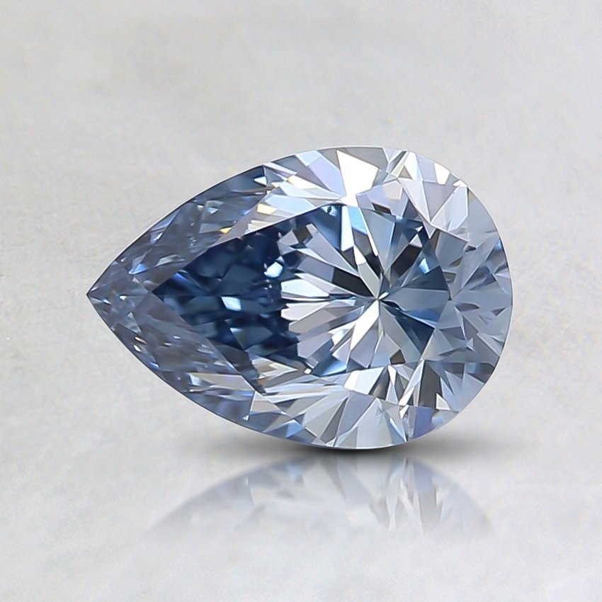 0.66 Ct. Fancy Vivid Blue Pear Lab Created Diamond