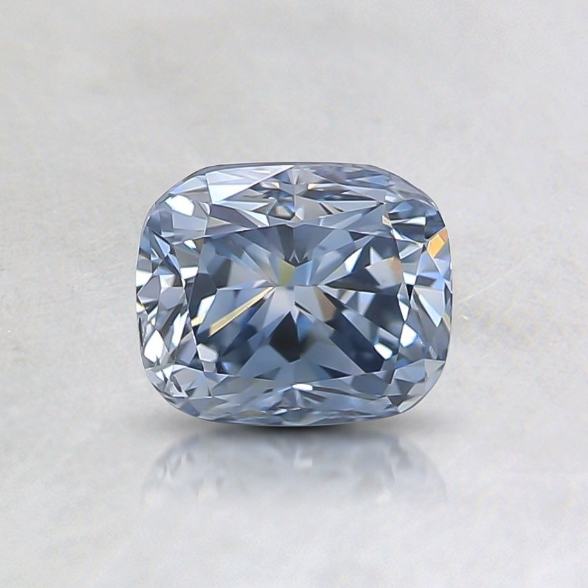 0.72 Ct. Fancy Blue Cushion  Lab Created Diamond