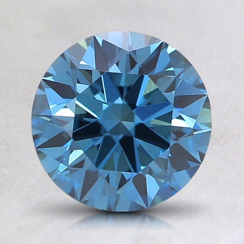 1.59 Ct. Fancy Deep Blue Round Lab Created Diamond