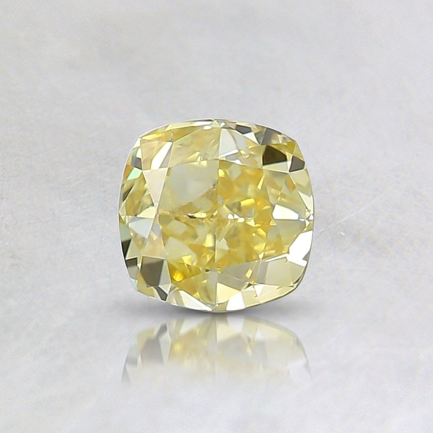 0.51 Ct. Fancy Intense Yellow Cushion Diamond