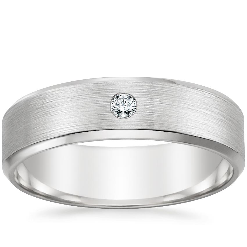 Matte Men's Diamond Ring