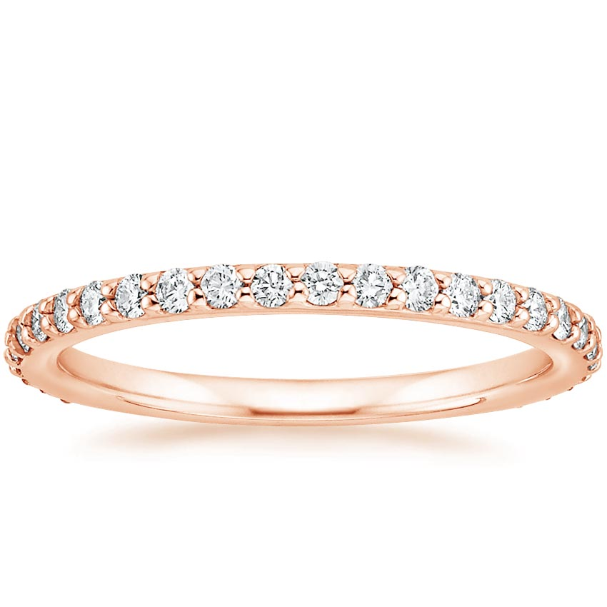 Rose Gold Petite Shared Prong Eternity Diamond Ring (1/2 ct. tw.)