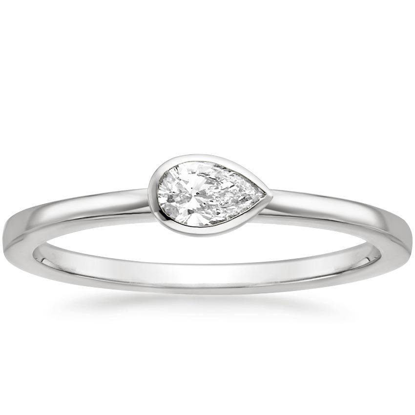 Pear Bezel Diamond Ring