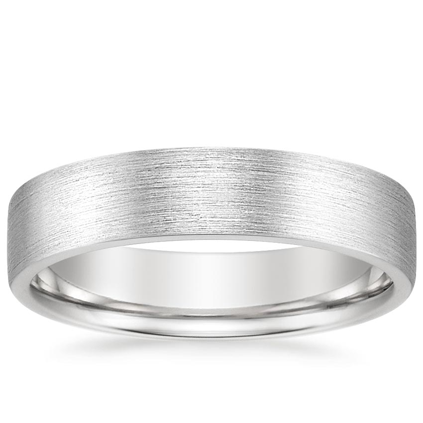 5mm Mojave Matte Wedding Ring in Platinum