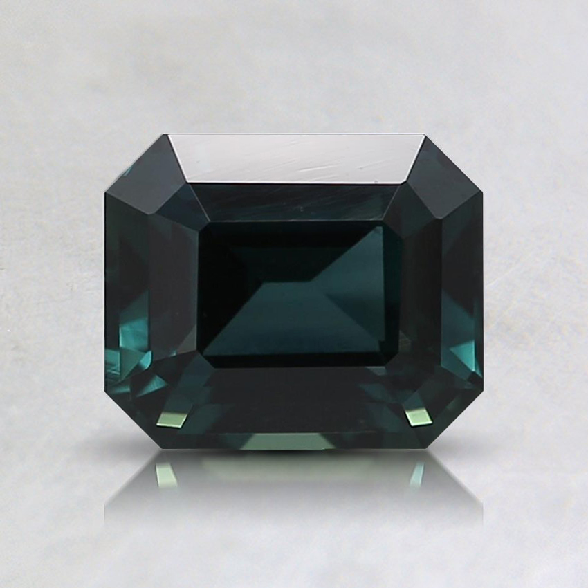 6.6x5.5mm Unheated Teal Emerald Sapphire