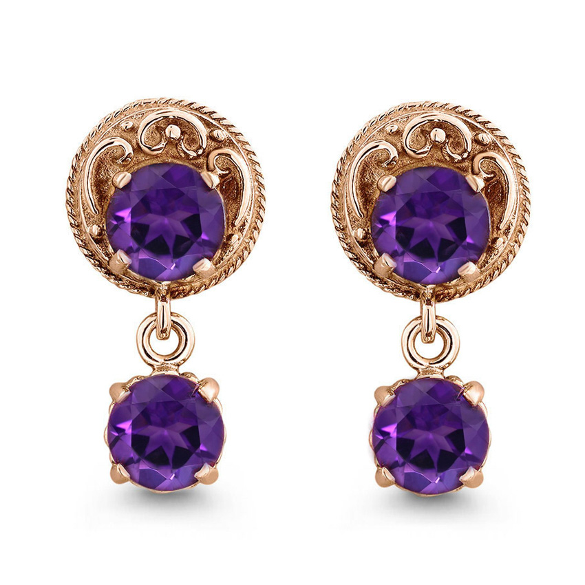 The Nicolette Earrings, top view