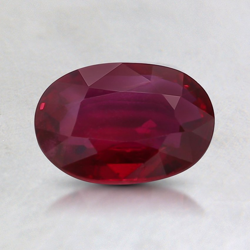 7.1x5.2mm Unheated Oval Ruby