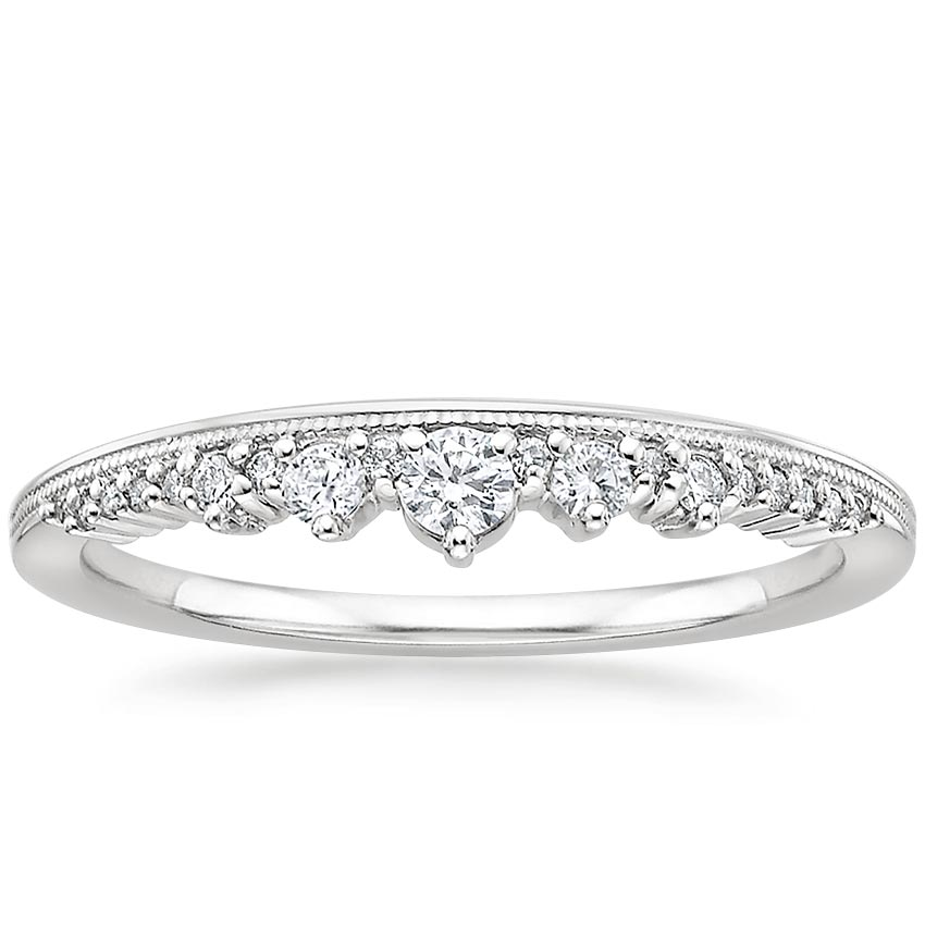 Crown Diamond Ring in Platinum