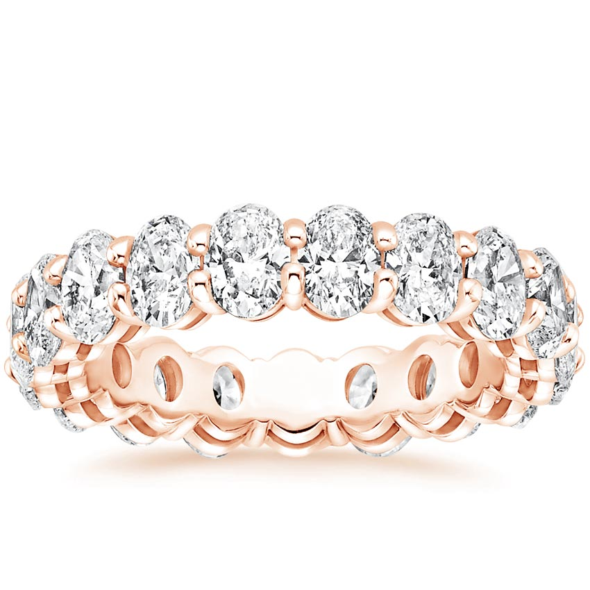 Rose Gold Oval Eternity Diamond Ring (4 ct. tw.)
