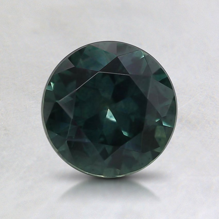 6.3mm Teal Round Montana Sapphire