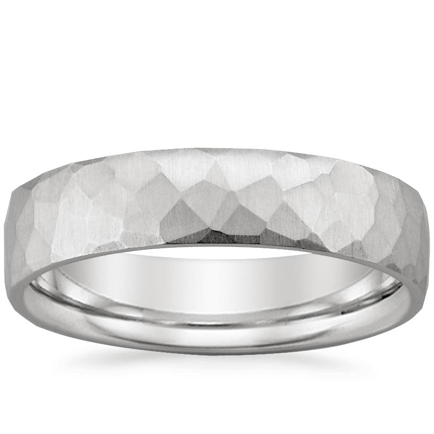 Platinum Everest Wedding Ring, top view