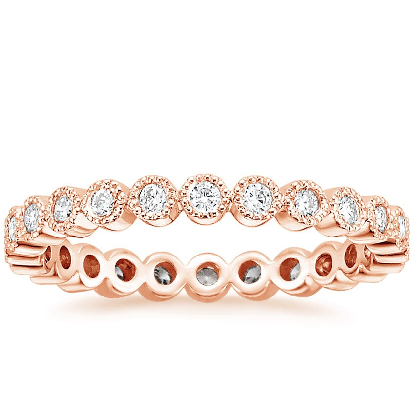 14K Rose Gold Solstice Eternity Diamond Ring (3/8 ct. tw.), top view