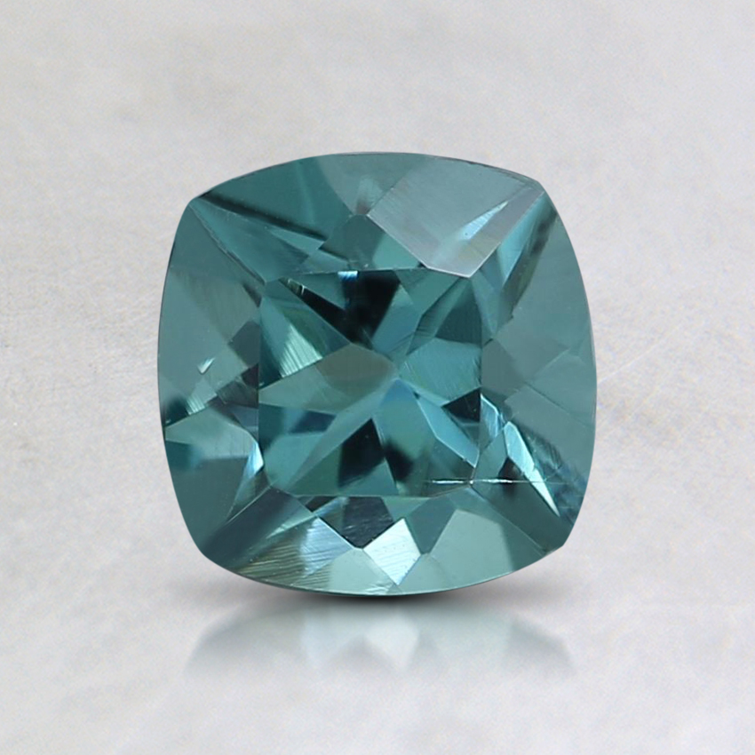 6mm Teal Cushion Tourmaline