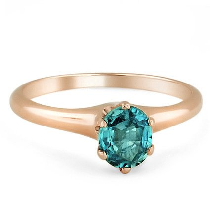 Retro Blue Zircon Vintage Ring