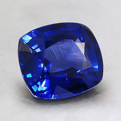 7.6x6.8mm Super Premium Blue Cushion Sapphire