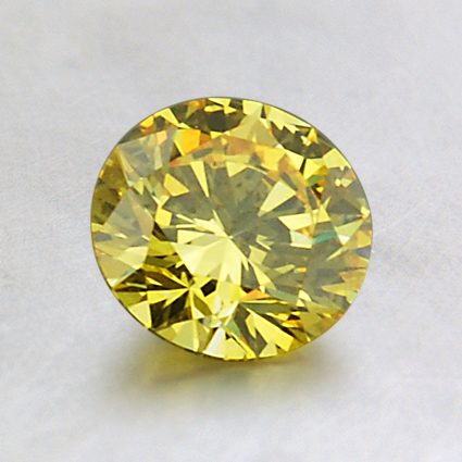 6.59mm Lab Created Yellow Round Diamond