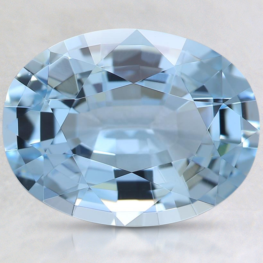 13.1x10mm Oval Aquamarine