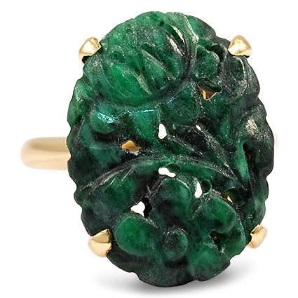 Retro Jade Vintage Ring