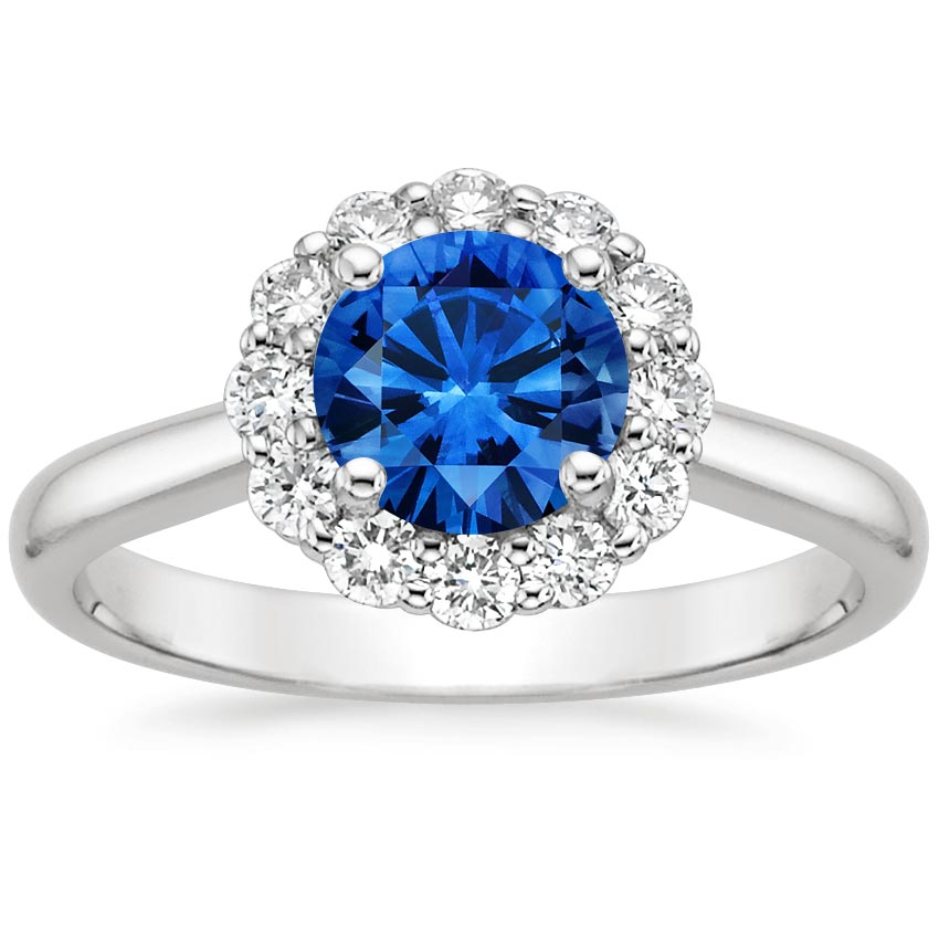 Top Twenty Sapphire Rings - SAPPHIRE LOTUS FLOWER DIAMOND RING (1/3 CT. TW.)