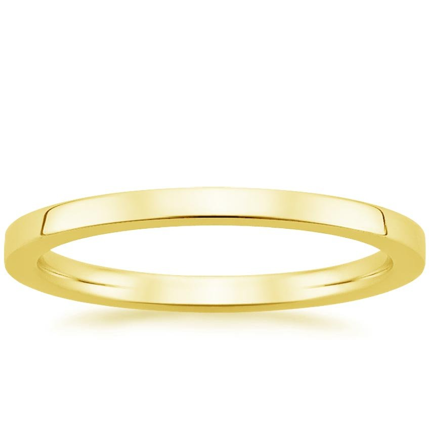 18K Yellow Gold Petite Quattro Wedding Ring, top view