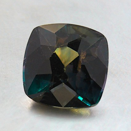 7.0mm Premium Green Cushion Sapphire, top view