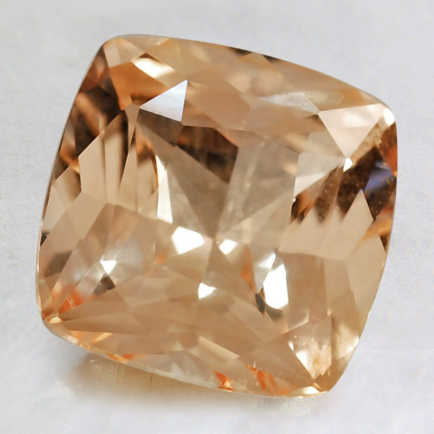 8.5mm Premium Peach Cushion Sapphire, top view