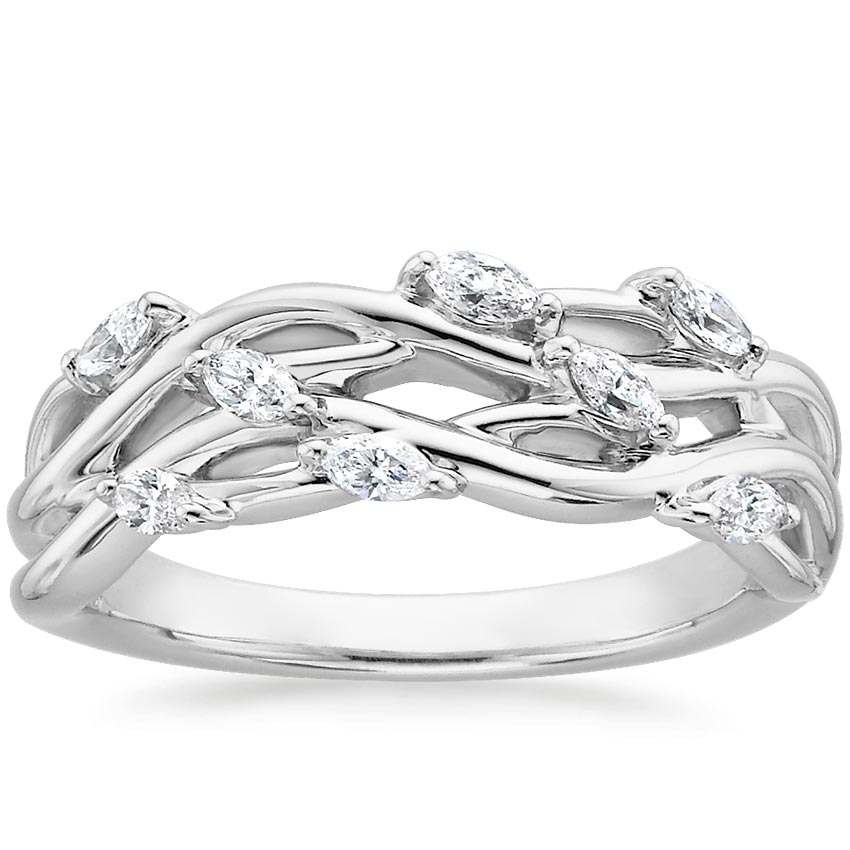 Blooming Willow Diamond Ring (1/4 ct. tw.) in Platinum