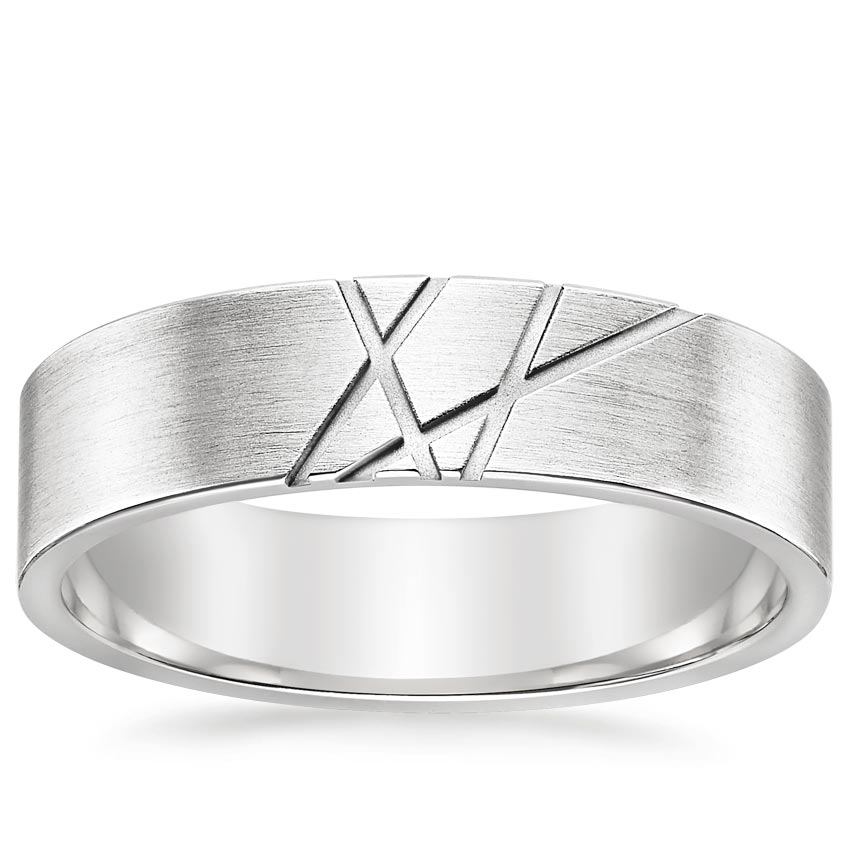 Intersecting Grooves Wedding Ring
