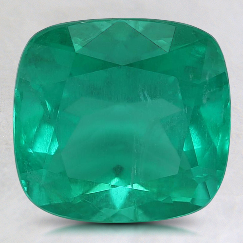 9x8.7mm Premium Cushion Emerald