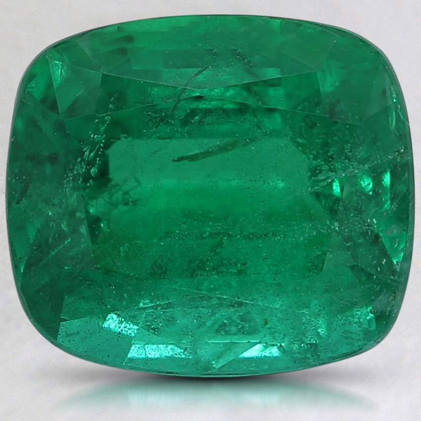 9.9x8.8mm Cushion Emerald