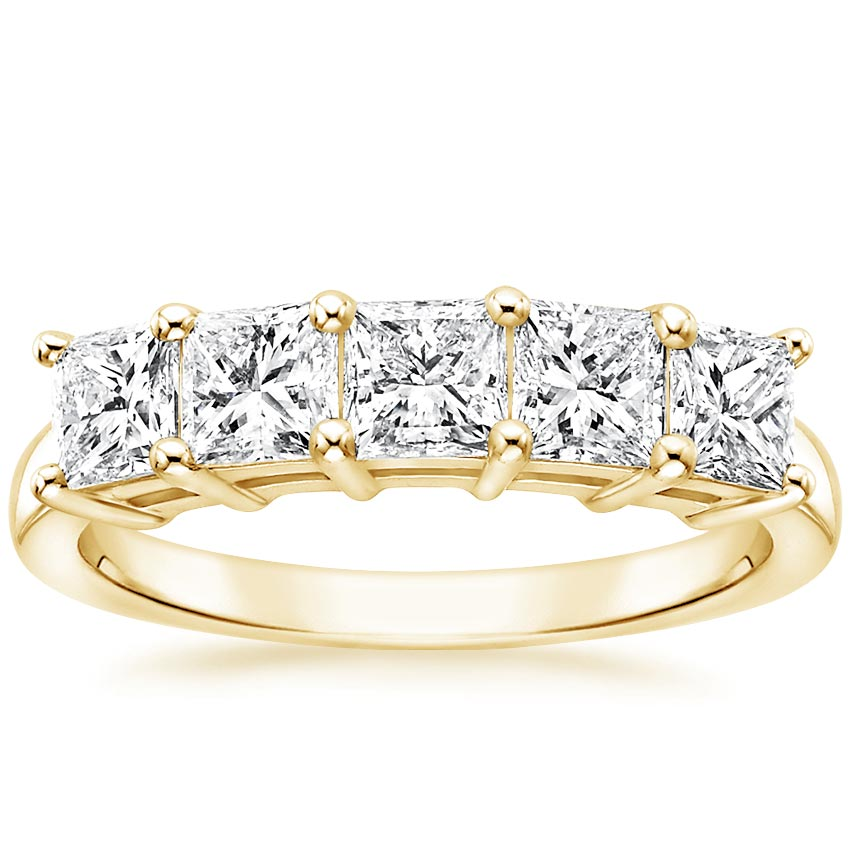 Yellow Gold Princess Five Stone Diamond Ring (1 1/2 ct. tw.)