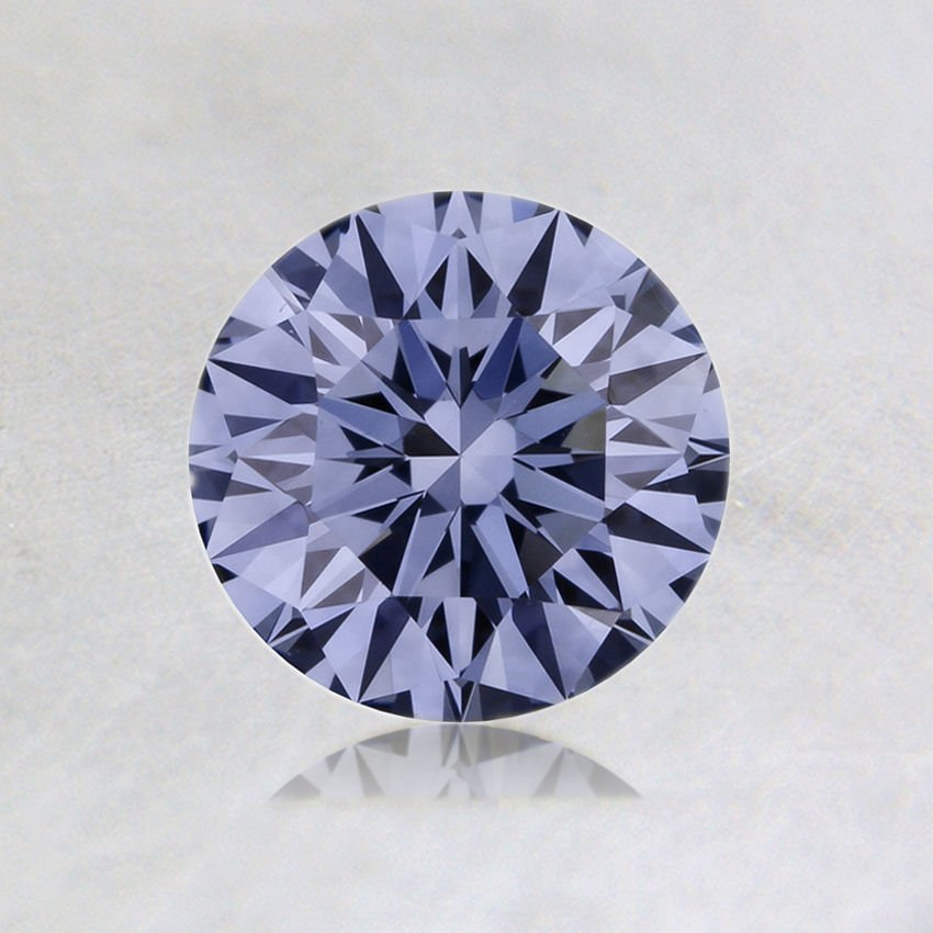 0.52 ct. Lab Created Fancy Intense Blue Round Diamond, top view