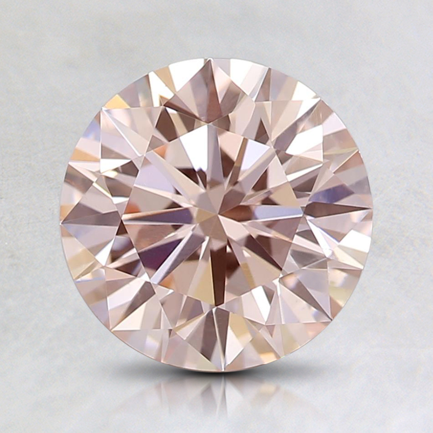 1.50 Ct. Fancy Light Orangy Pink Round Lab Created Diamond