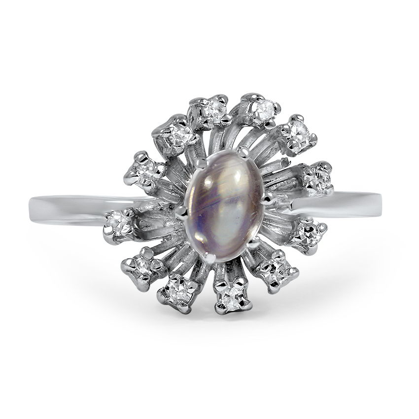 Retro Moonstone Vintage Ring
