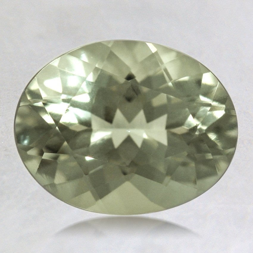 9x7mm Green Oval Prasiolite, top view