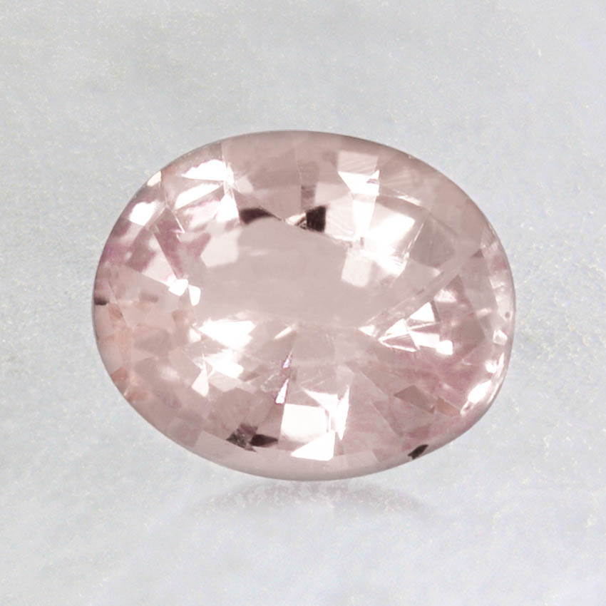 7x6mm Peach Oval Sapphire, top view