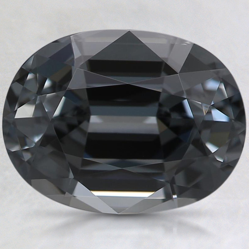 10.4x8mm Premium Gray Oval Spinel