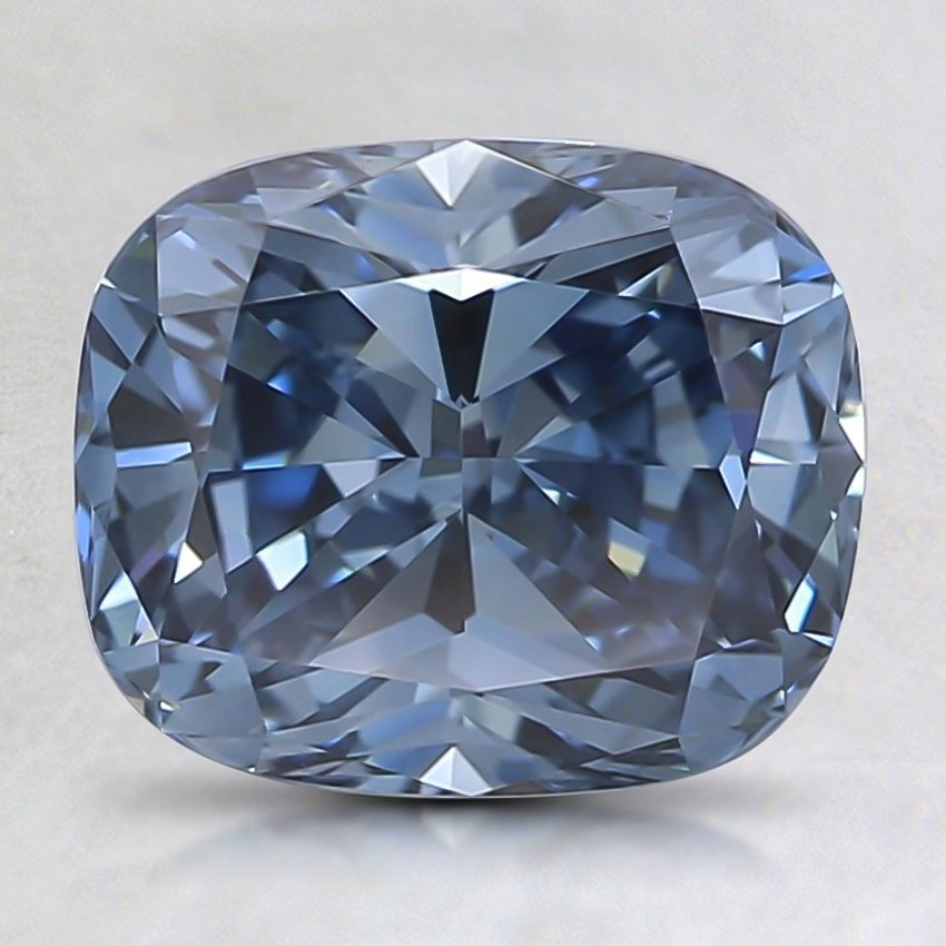 1.64 Ct. Fancy Intense Blue Cushion Lab Created Diamond