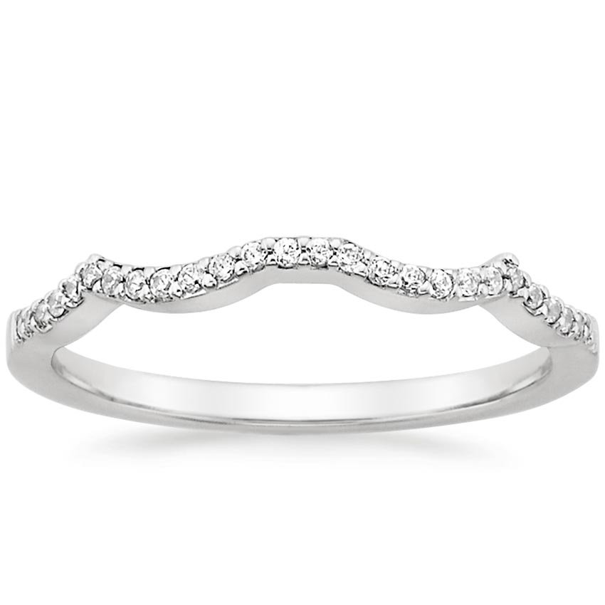 18K White Gold Infinity Diamond Ring, top view