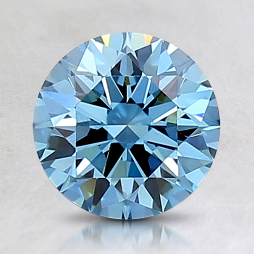 1.53 Ct. Fancy Intense Blue Round Lab Created Diamond