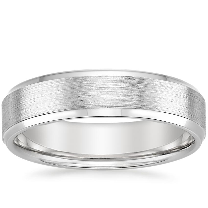 Top Twenty Men's Wedding Rings - 5.5MM BEVELED EDGE MATTE WEDDING RING
