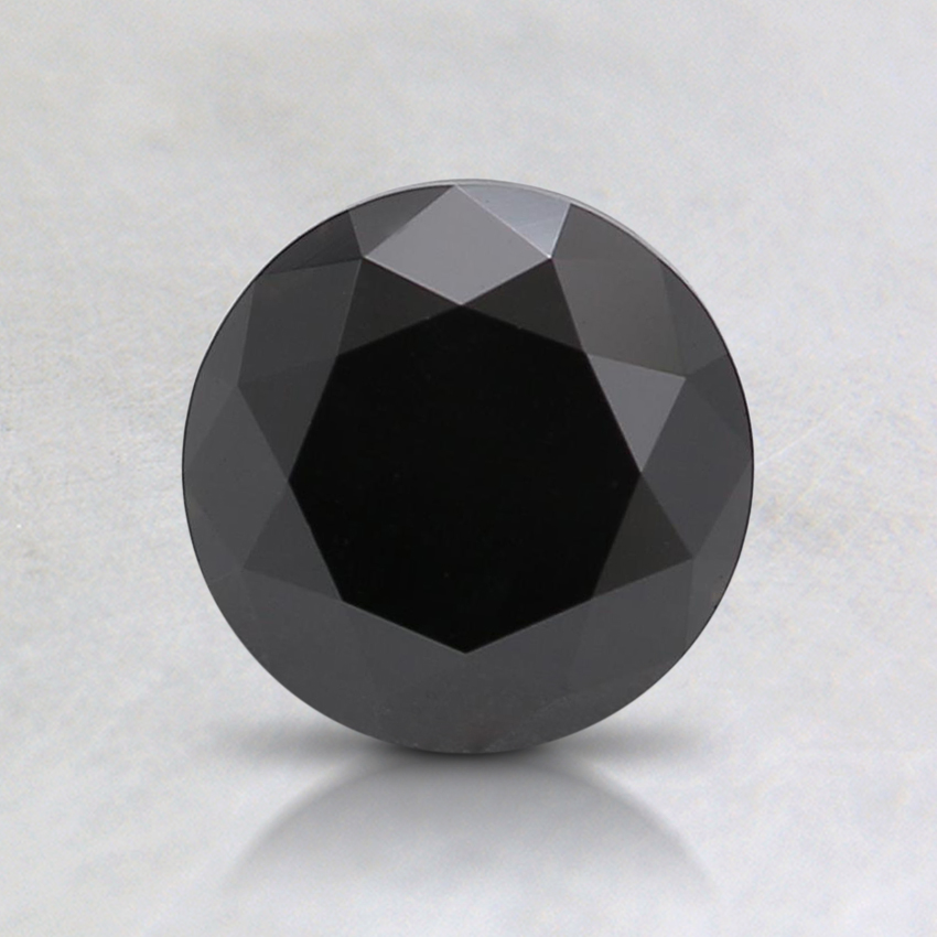 1.29 Ct. Fancy Black Round Colored Diamond
