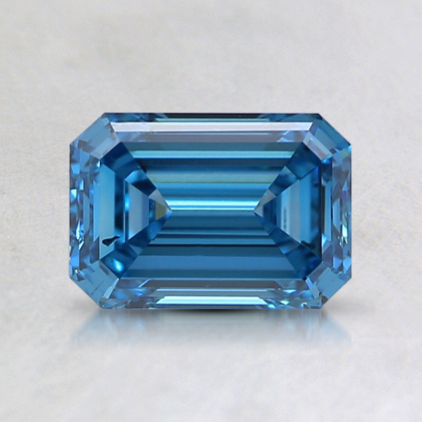 1.01 Ct. Fancy Vivid Blue Emerald Lab Created Diamond